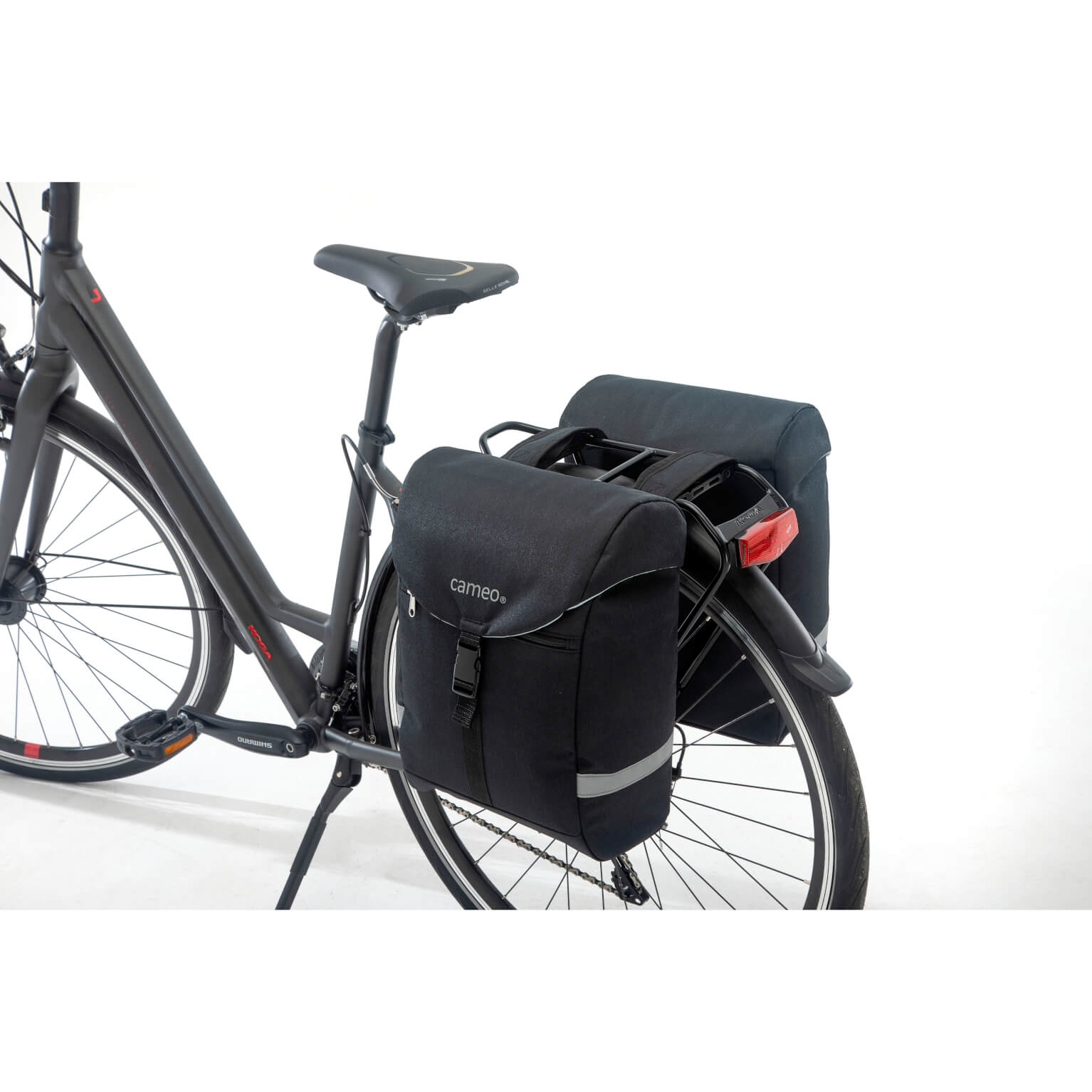 Cameo fietstas dubbel Sports bag black